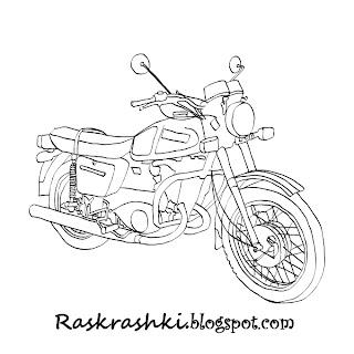 Раскраска мотоцикла
