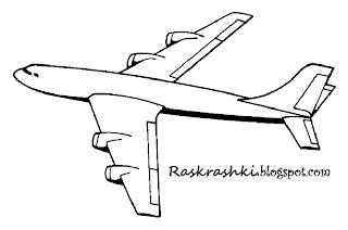 раскраска пассажирский самолет