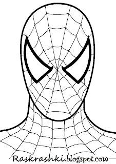 Детские раскраски человек паук