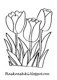 Цветочки раскрашки для малышей