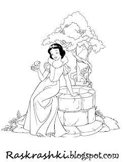 Принцессы раскрашки для девочек