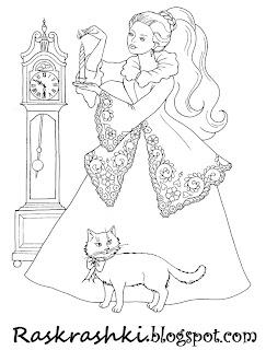 Раскрашки принцесс для девочек