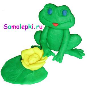 царевна лягушка из пластилина