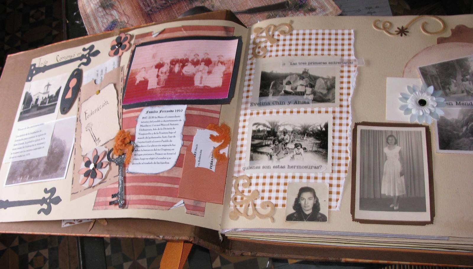 albunes y scrapbook album tributo a evelina