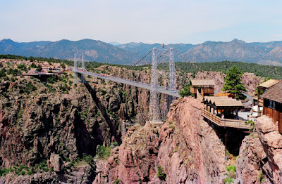 pontes assustadoras Royal Gorge Bridge