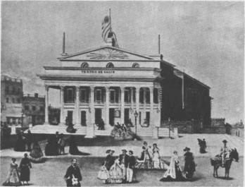 Teatro Solis(Montevideo) en su inaguracion en 1856