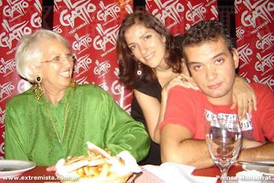 Susana Rinaldi con sus hijos