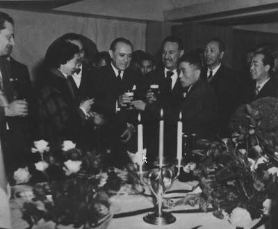 Juan Canaro, Maria de la Fuente y Hugo Baralis en Japon en 1954