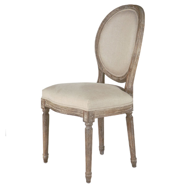 Copy Cat Chic Restoration Hardware French Round Side Chair