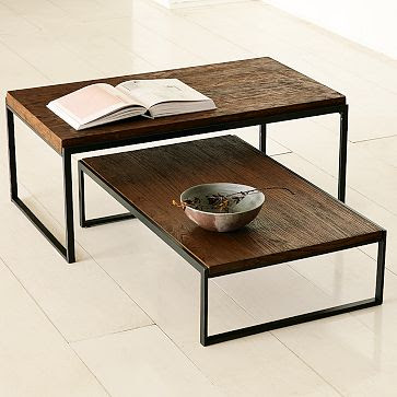 Copy Cat Chic Wood Table With Metal Base