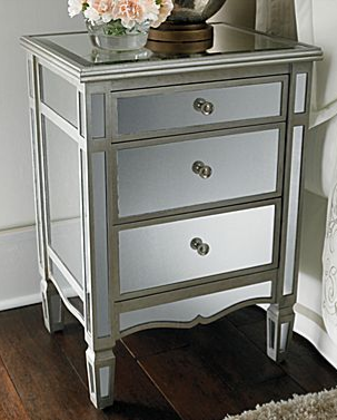 Copy Cat Chic Pottery Barn Park Mirrored Bedside Table