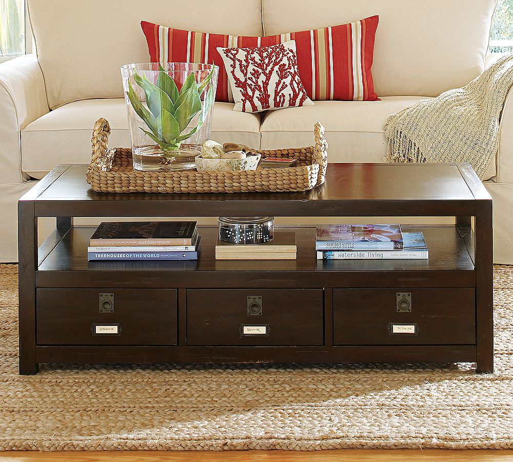 Pottery barn rhys coffee table copycatchic Coffee table decor