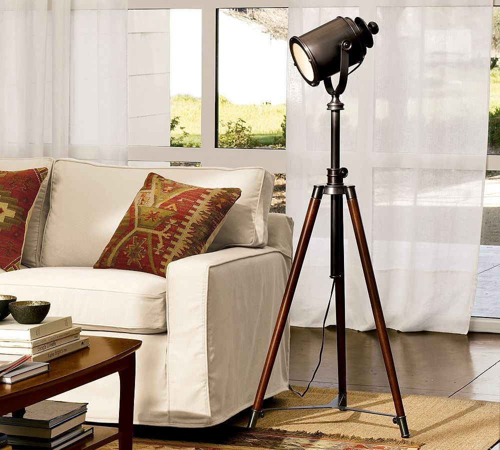 Pottery Barn Photographer's Tripod Floor Lamp - copycatchic