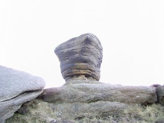 Gritstone Rock Pedestal at Fairbrook Naze