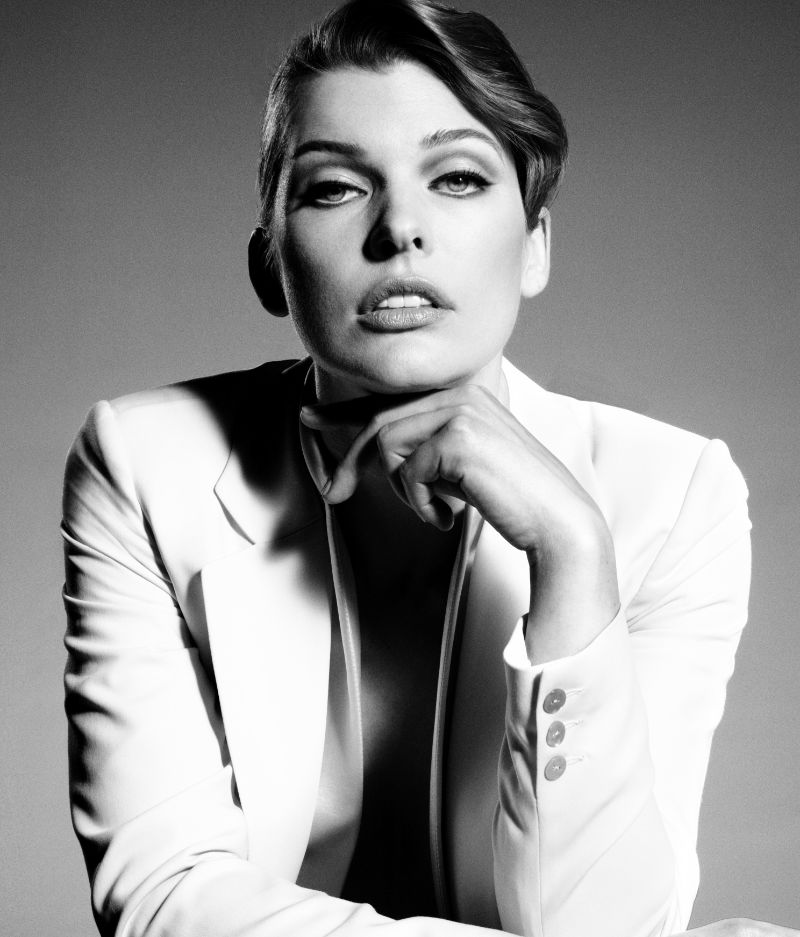 Milla Jovovich Vogue Germany February 2011 by Francesco Carrozzini