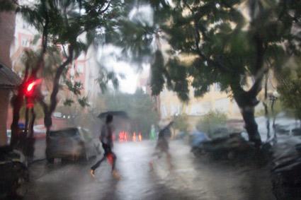 lluvia de verano en Valencia