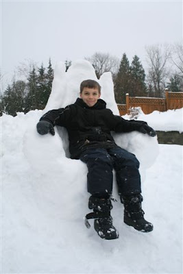 David's snow throne