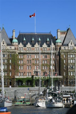 Empress Hotel in Victoria, from the Inner Harbour