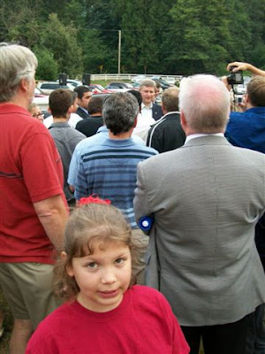 My daughter with the Prime Minister Stephen Harper