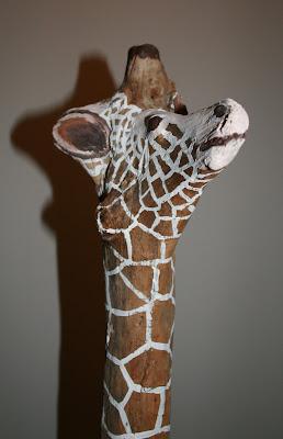 Giraffe driftwood sculpture