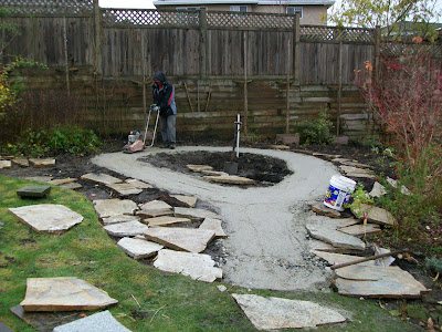 Base for flagstone pathway