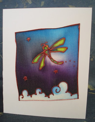 Dragonfly on silk