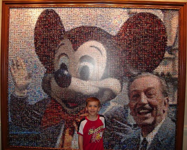 Photo mosaic at Disneyland