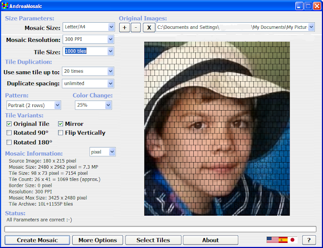 AndreaMosaic - Free photo mosaic maker