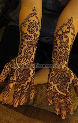 Pakistani Arabic mehndi patterns