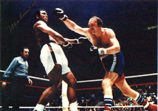Muhammad Ali and Chuck Wepner