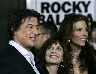 Sylvester Stallone and Talia Shire