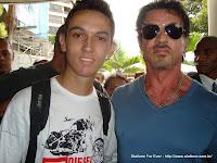 João Paulo com Sylvester Stallone