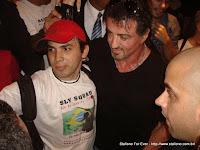 Edinho Maga com Sylvester Stallone