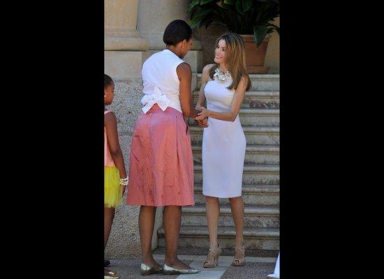 Princess Letizia Carla Bruni Michelle Obama. They are Carla Bruni,