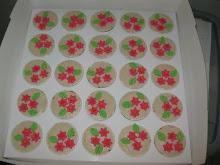 Muffin hantaran-hiasan fondent dan cream
