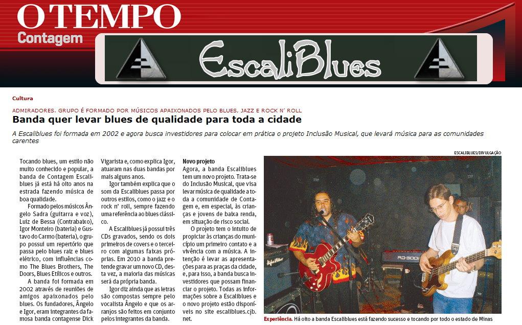 """Jornal """"O Tempo Contagem"""" 15-01-2010"""