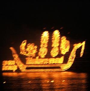 เรือ ให้ ลอย ไป ตาม แม่น้ำ