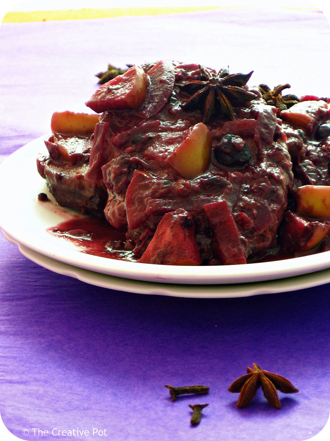 ... Post: The Creative Pot with Pork with Spiced Berry Pinotage Sauce