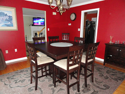 9pc counter height storage dining table w lazy susan chair set