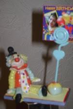 Lembrança que acompanhou o bolo palhaço - Porta-retrato