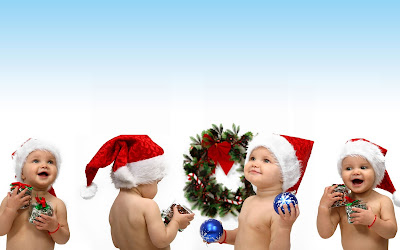 happy christmas cute babies high resolution