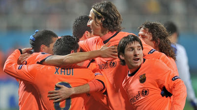 Daniel Alves, Carles Puyol, Xavi Hernndez, Lionel Messi and Zlatan Ibrahimovi are all in the Team of the Year, as is Andrs Iniesta