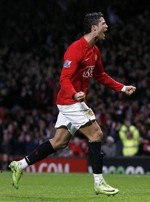 Cristiano Ronaldo Celebrates 3