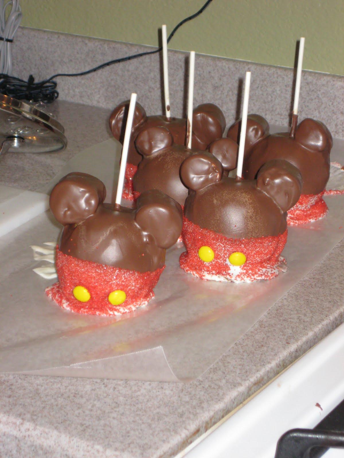 Mickey Mouse Carmel Apples