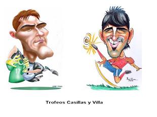 Trofeos Casillas y Villa