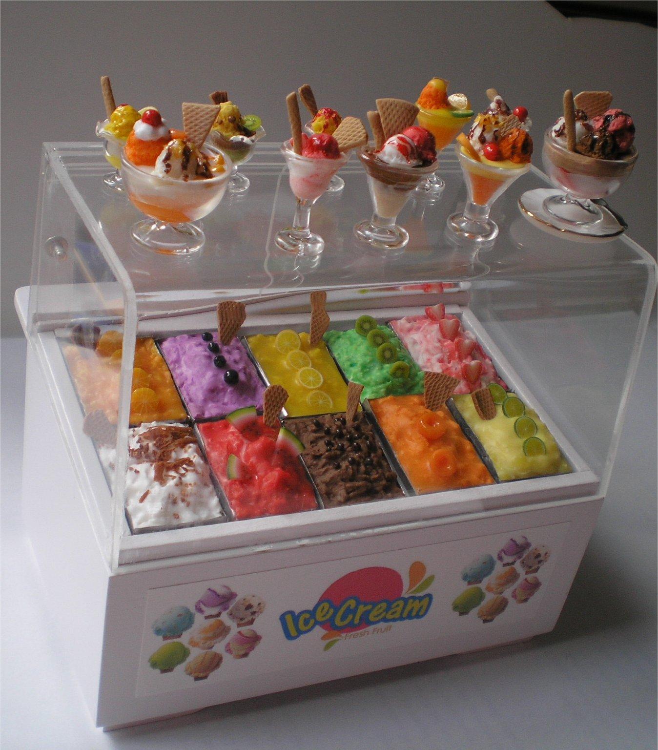 Las casitas de nar n expositor de helados listo - Como hacer casas en miniatura ...