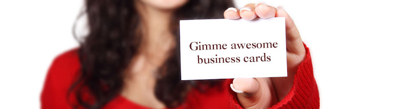 Gimme awesome business cards