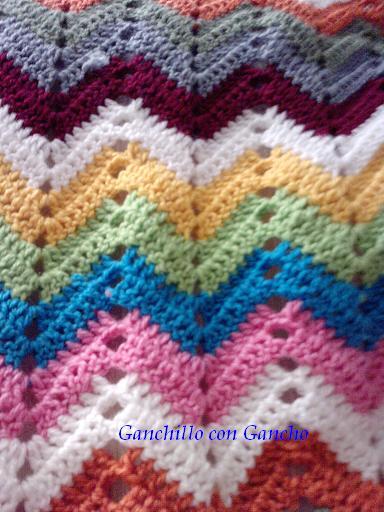 Ganchillo con Gancho: Proyecto manta zig-zag