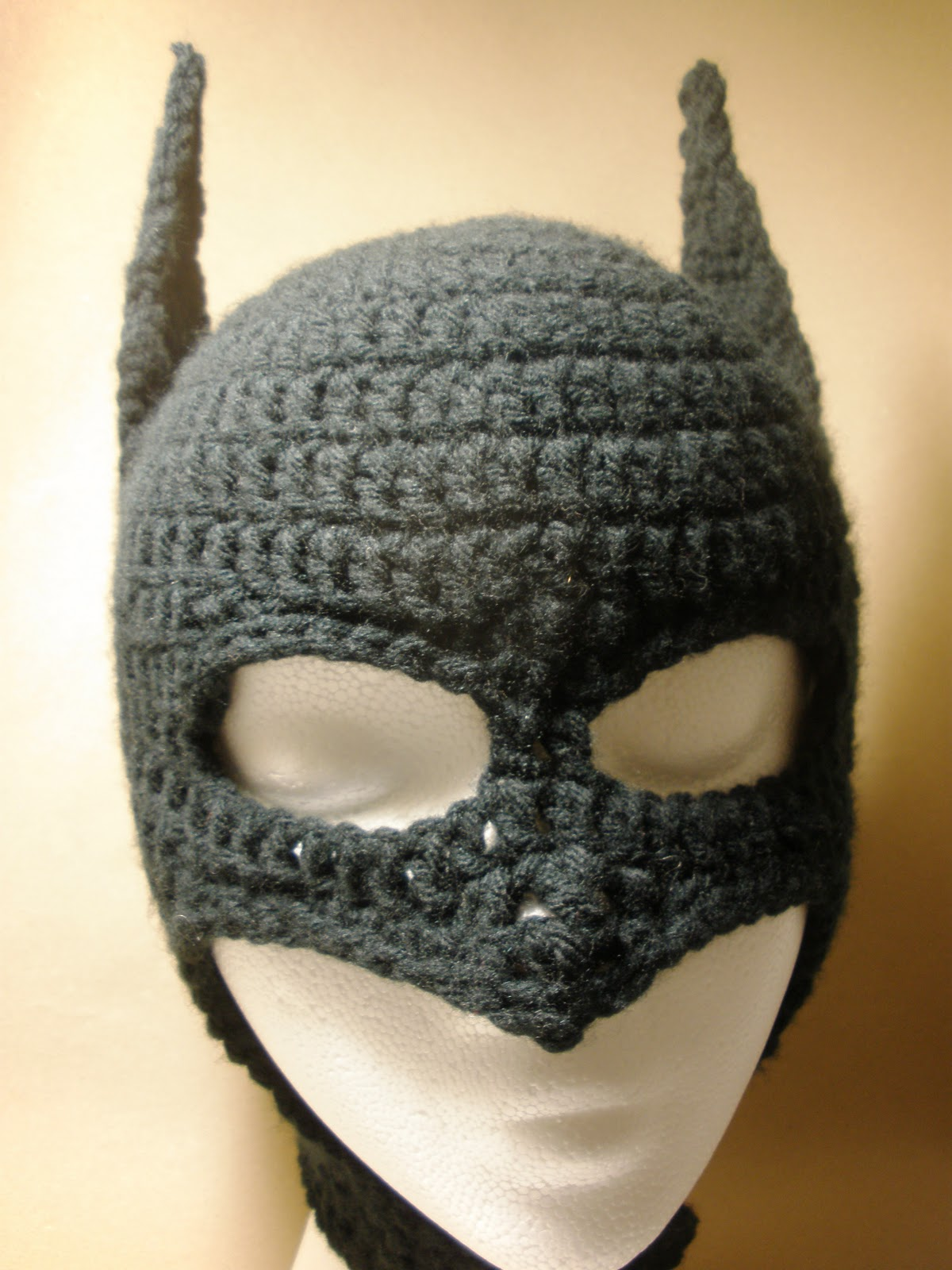 Crochet Pattern Batman Hat : Crochet Batman Mask for Child