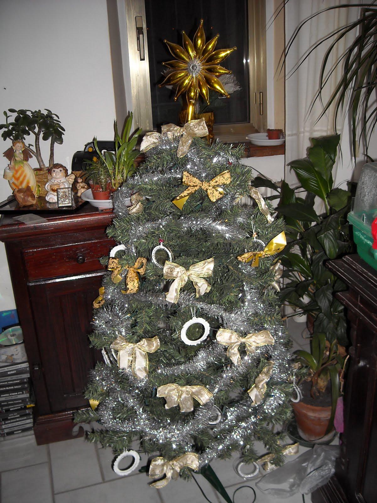 I Miei Lavori Alluncinetto Albero Di Natale Con Decori A Uncinetto